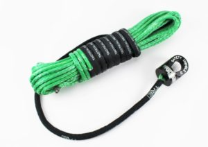 Green winch rope with Safety Thimble II
